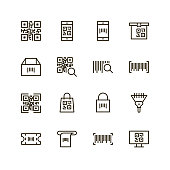 Check code icon set. Collection of high quality black outline logo for web site design and mobile apps. Vector illustration on a white background.