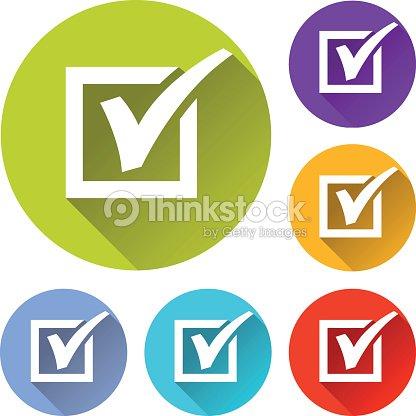 check mark circle icons set arte vetorial thinkstock