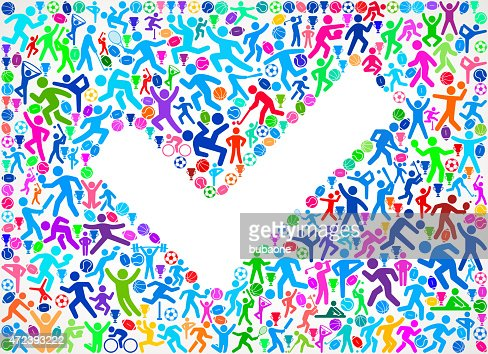 sports motif designs senior couple fitness sports and exercise pattern vector backgro