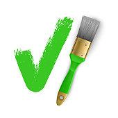 Check mark on white background. Tick icon grunge style, Ok, accept vector Eps 10 illustration
