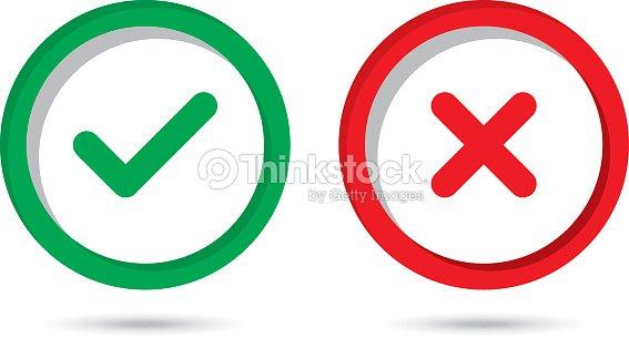 0a3e28bd4b2 Check Mark Wrong Mark Icons stock vector - Thinkstock