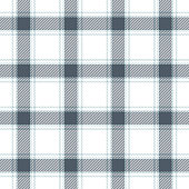 Check plaid pattern seamless vector background in grey, blue, and white. Tartan plaid for shirt or other modern textile design.