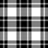 Check plaid pattern seamless vector background. Tartan checkered plaid graphic for scarf, poncho, flannel shirt, or other modern everyday fashion textile design. Woven herringbone pixel texture.