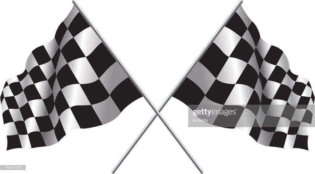 Checker flag : Vector Art