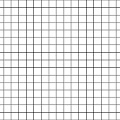 Checkered notebook paper vector seamless pattern. Graph paper black and white background.