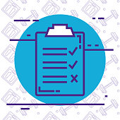 checklist clipboard isolated icon vector illustration design
