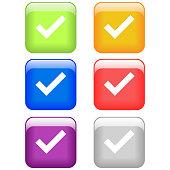 checklist,checkmark button set icon isolated vector
