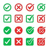 checkmark icon set