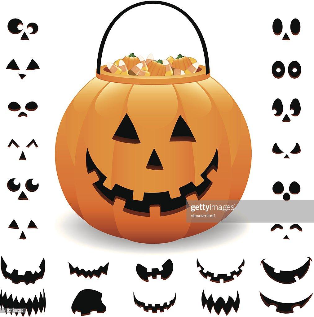 cheerful halloween pumpkin jack o lantern vector illustration