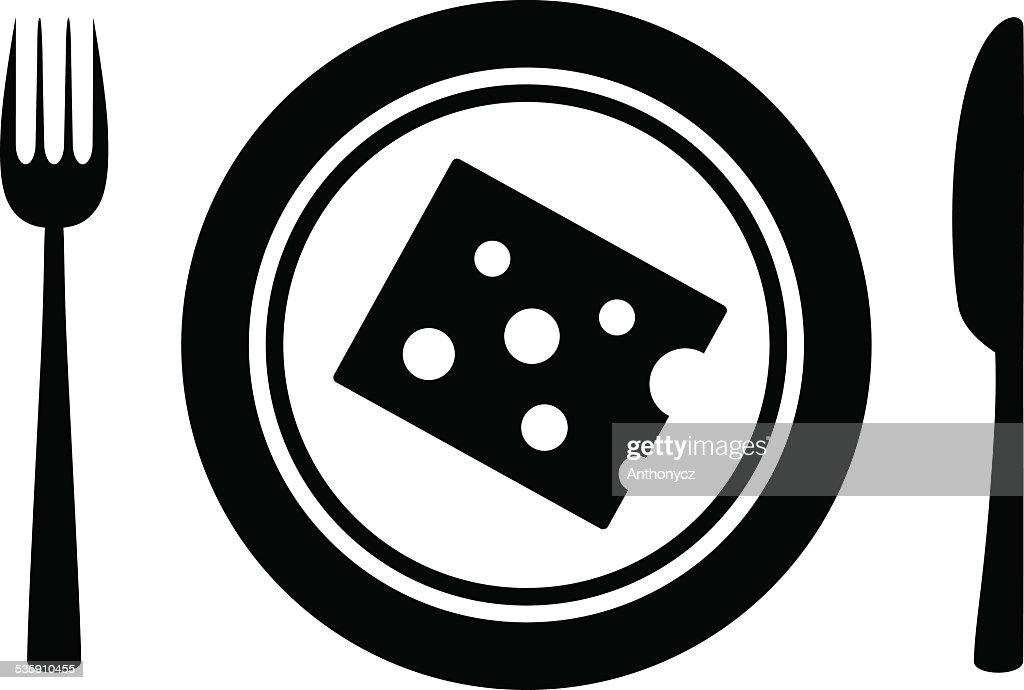 Käse-Symbol : Vektorgrafik