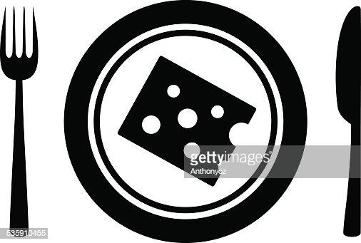 Icono de queso : Arte vectorial