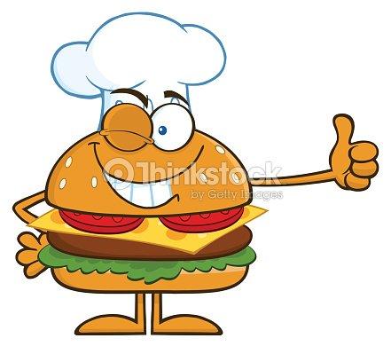 chef donnant un pouce lev hamburger clipart vectoriel thinkstock. Black Bedroom Furniture Sets. Home Design Ideas