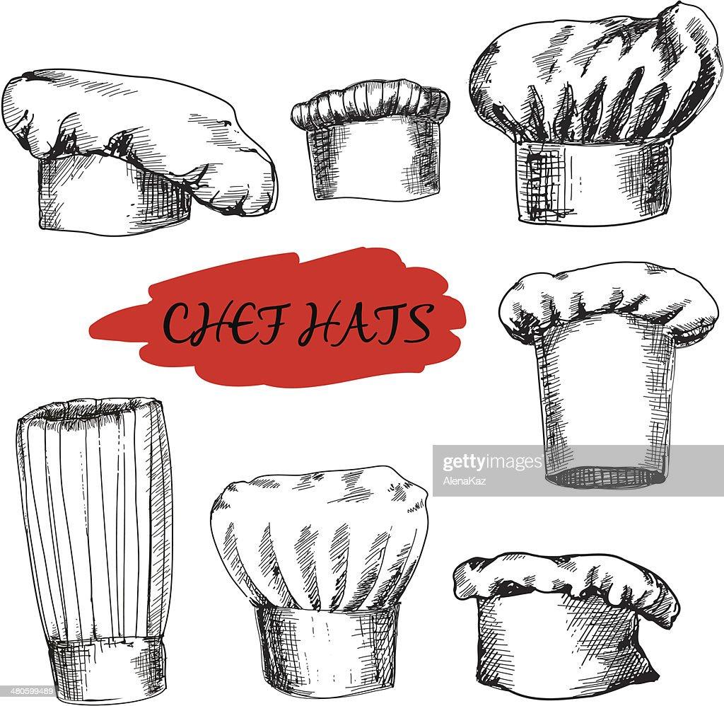 Chef hats : Vector Art