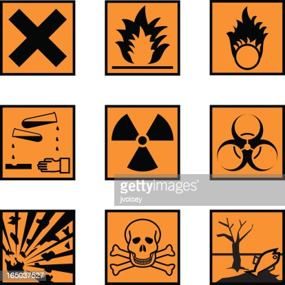chemical hazard labels vector getty images