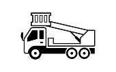 cherry picker truck illustration