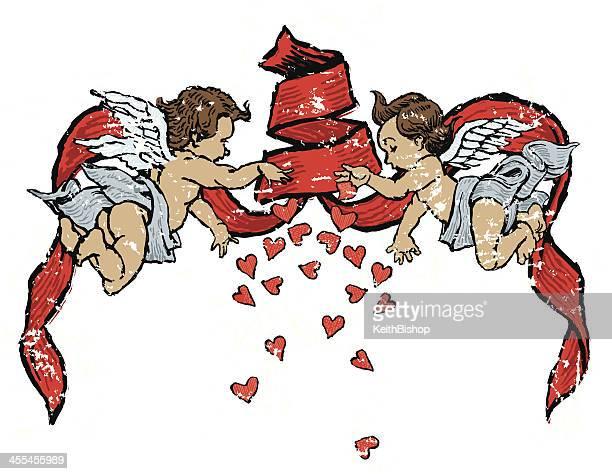 Engel atemberaubenden Herzen-Valentinstag