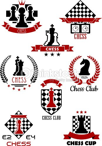 Chess Sports Game Labels And Symbols Vector Art Thinkstock