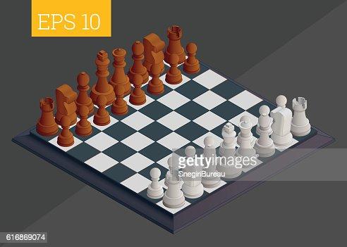 chessboard isometric vector illustration : Vector Art