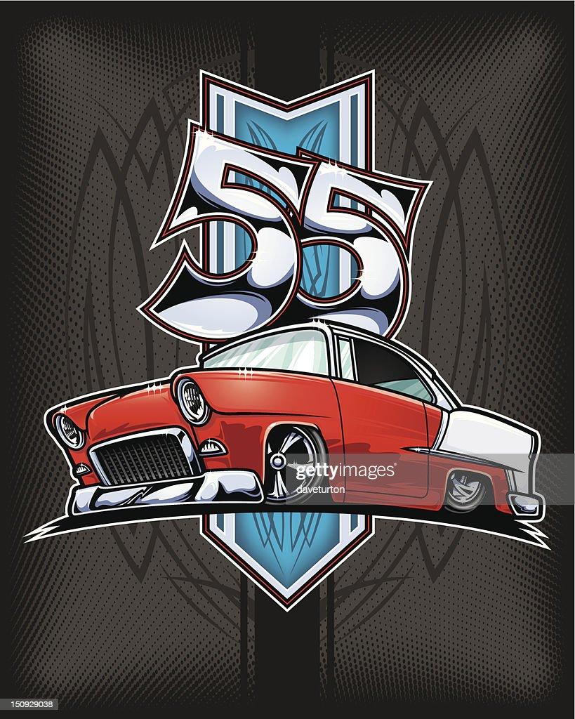 Chevy Bel Air Custom 1955 : Vector Art