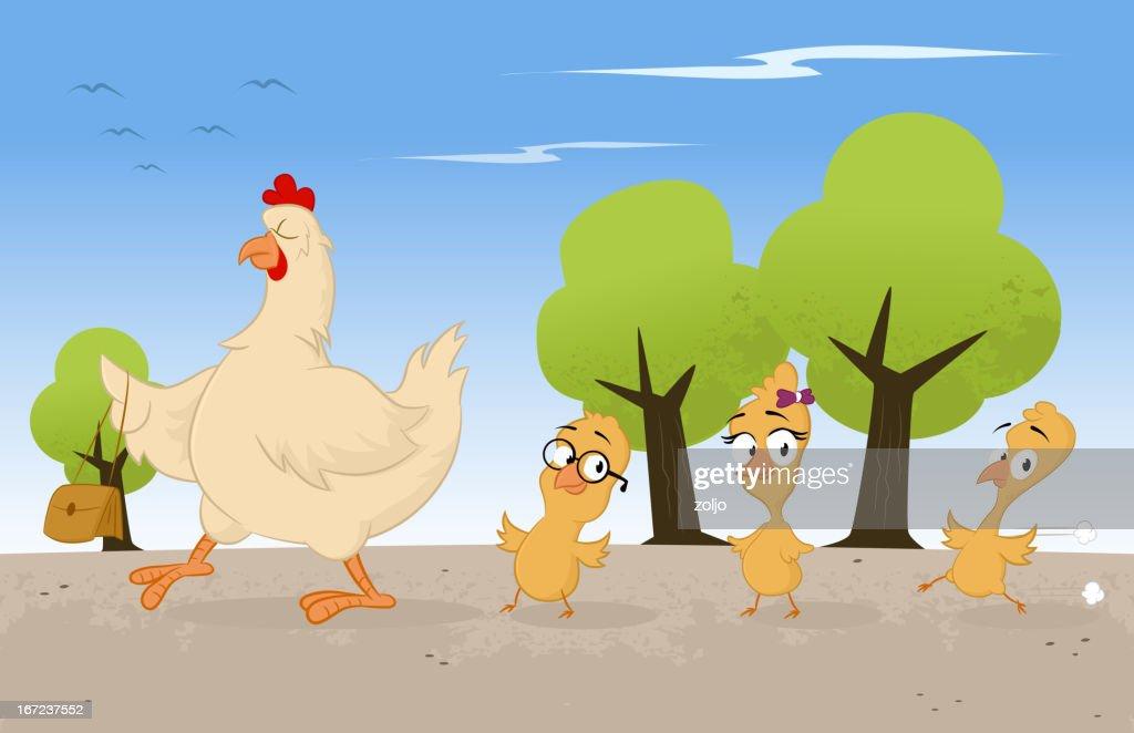 Chicken Family : Vector Art