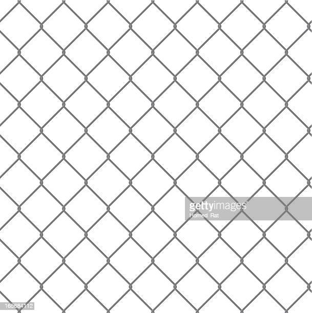 Prison Fence At Night: Chainlink Fence Vector Art And Graphics