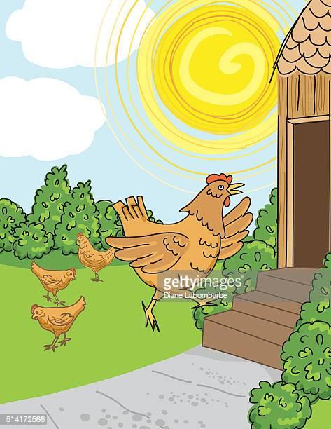 Poulet dans la course ChickenCoop