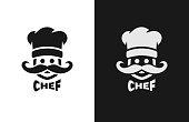Chief monochrome , two versions. Vector illustration