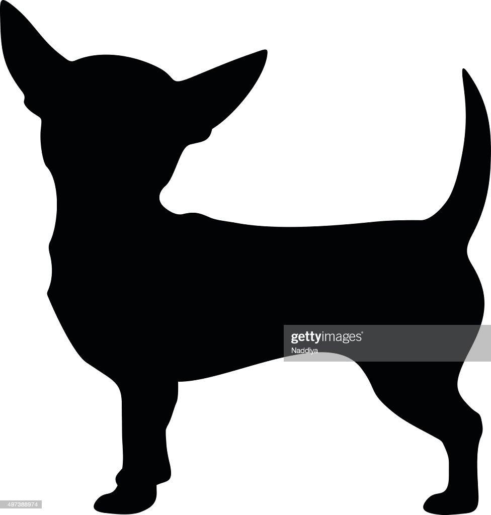 chihuahua dog vector black silhouette vector art thinkstock rh thinkstockphotos com dog bone vector art free dog vector art