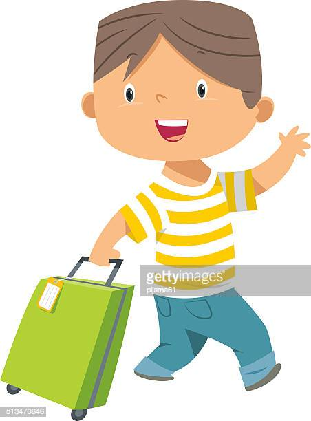 child and suitcase