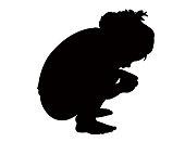 A child body silhouette vector
