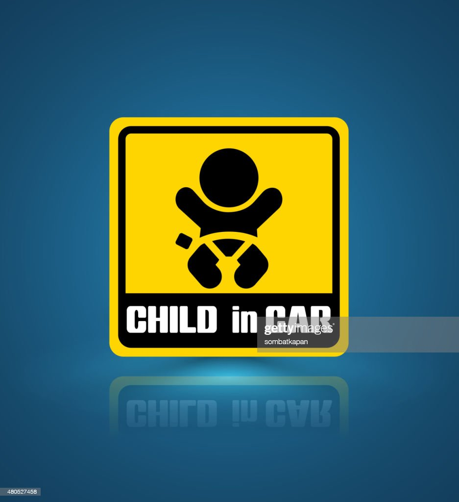 Child in car banner. : Vector Art
