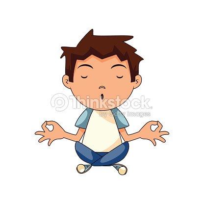 Niño Meditando arte vectorial | Thinkstock