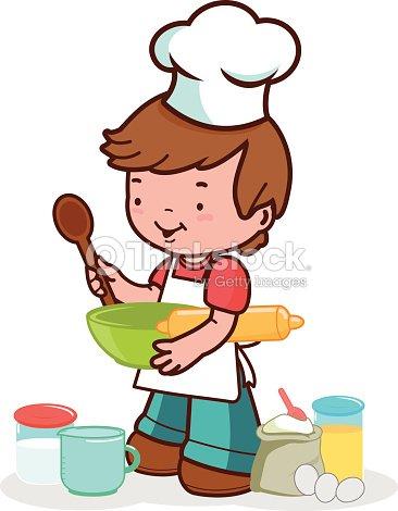 Child preparing to cook vector art thinkstock - Kawaii kochen ...
