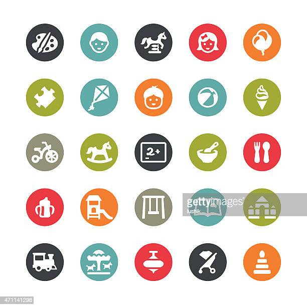 Childhood and Preschool related vector icons / Ringico series