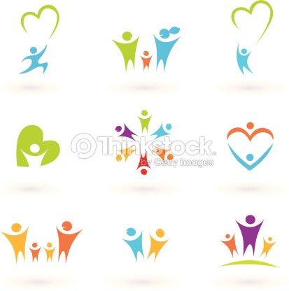 kinder familie gemeinschaft und schutz icons symbole vektorgrafik thinkstock. Black Bedroom Furniture Sets. Home Design Ideas