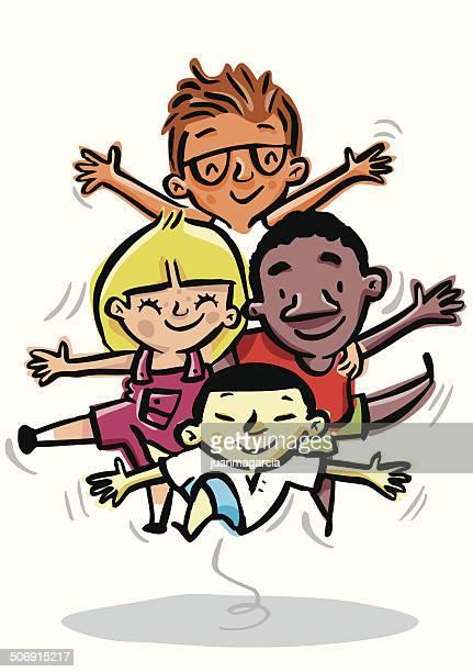 Kinder der verschiedenen Rassen, der Toleranz, Vielfalt und Gleichberechtigung Rassismus