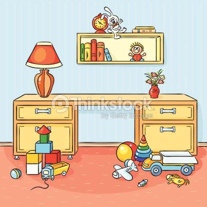 Children room vector art thinkstock for Cuarto desordenado
