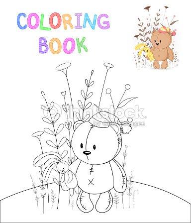 Los Ninos S Libro Con Animales De Dibujos Animados Para Colorear