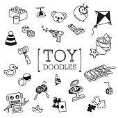Hand drawing styles for children toy.