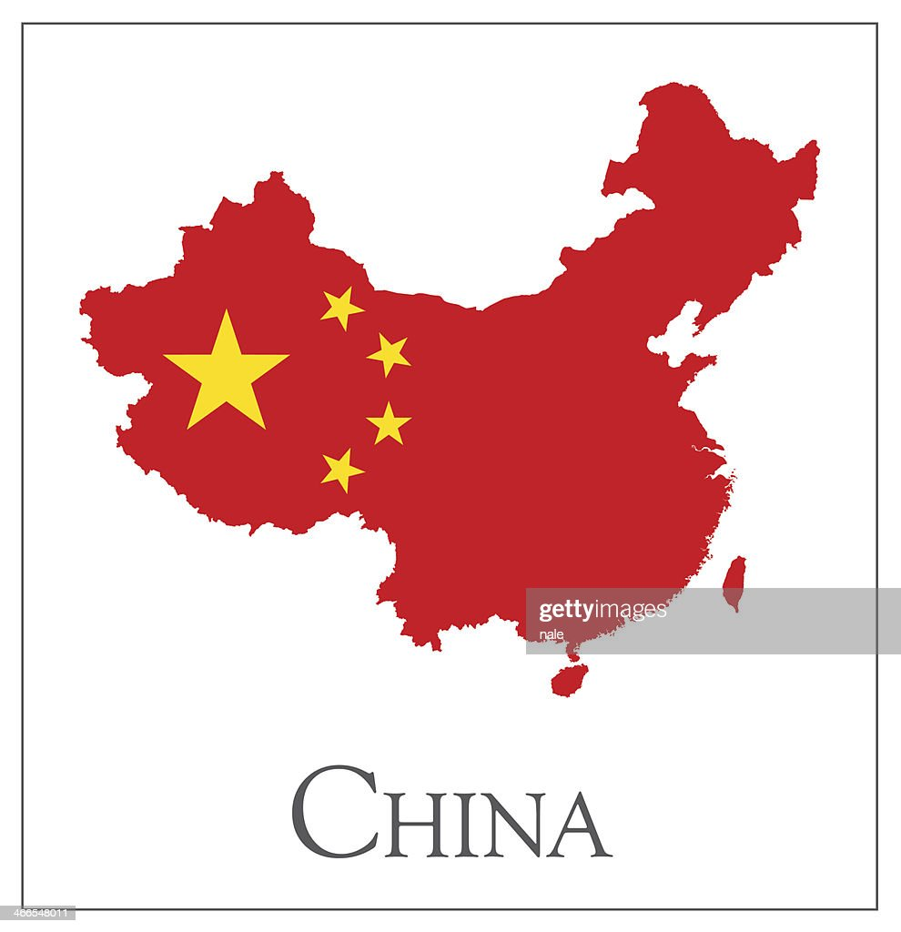 China flag map vector art getty images for Chinese vector