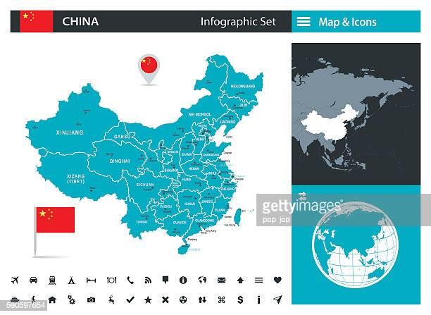 China – Infografik Karte-Illustration