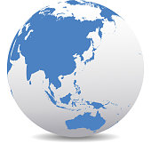 Vector Map Icon of the World Globe