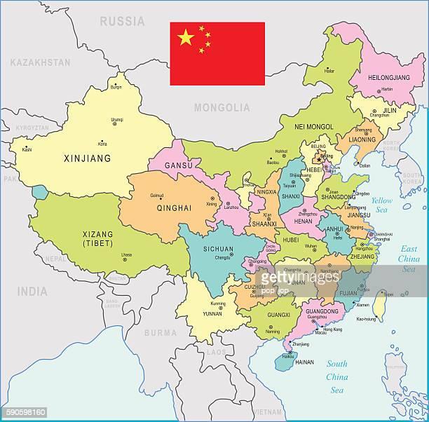 China Map - illustration