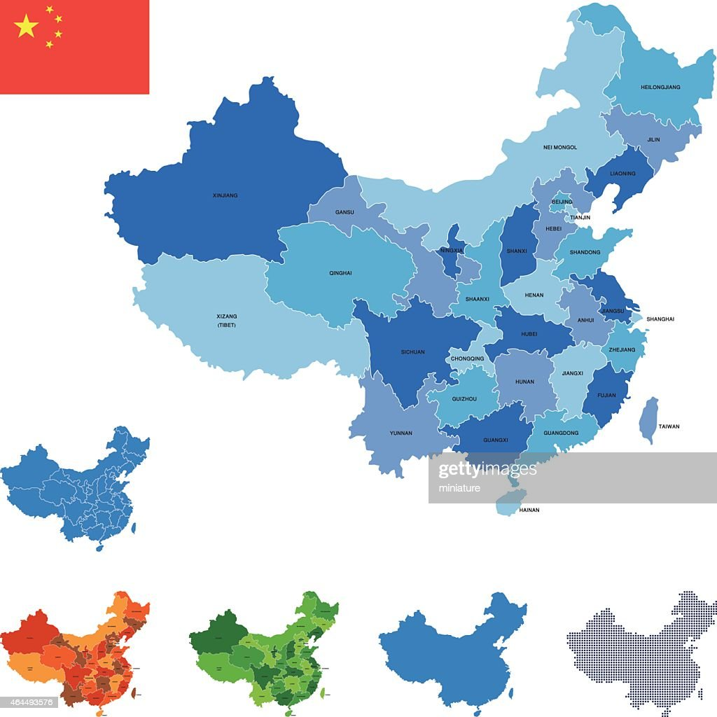 China Map Vector Art Getty Images