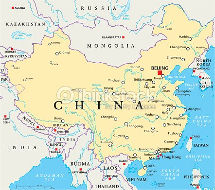 China Political Map stock vector - Thinkstock