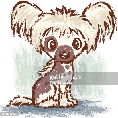 Chinese Crested Dog : Vector Art