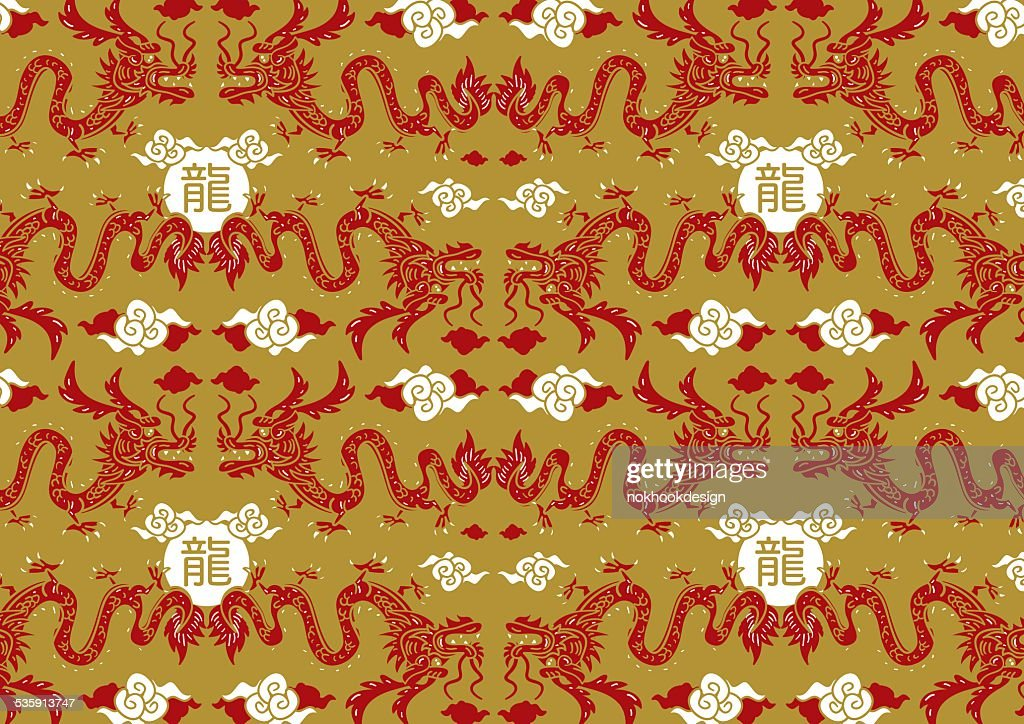 Chinese dragon pattern : Vector Art