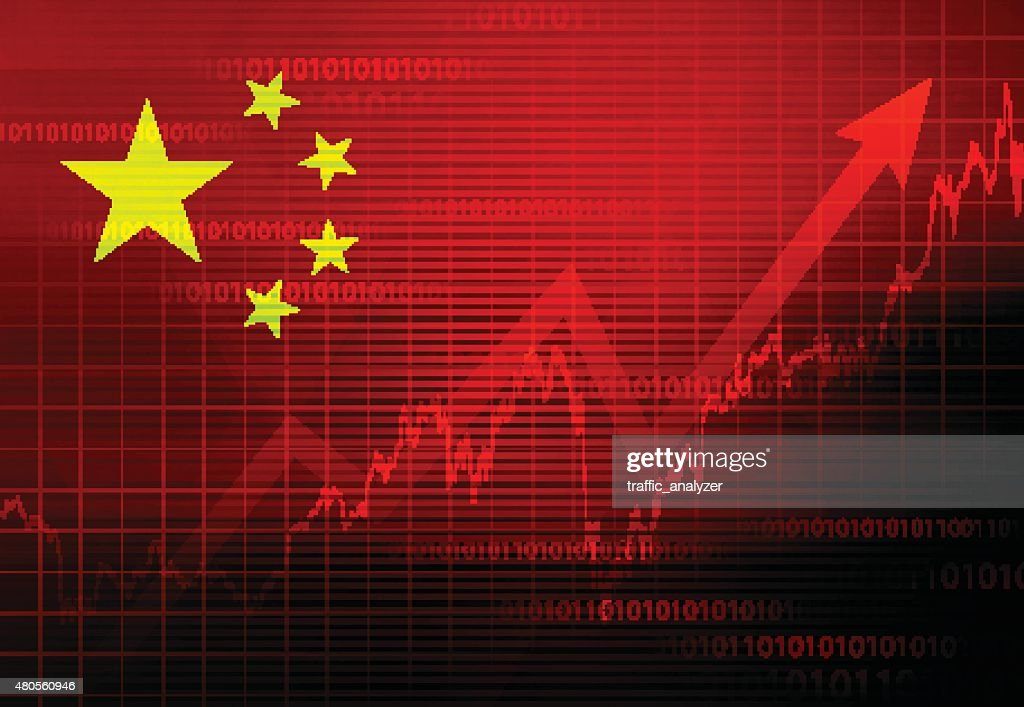 Chinese economy background : Vector Art