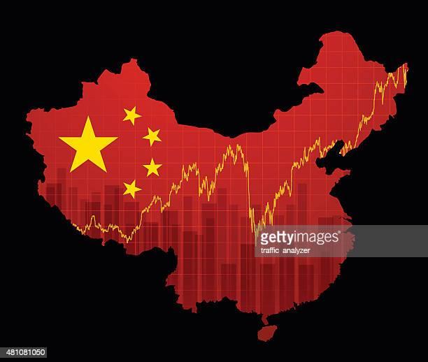 Chinesische Wirtschaft Karte