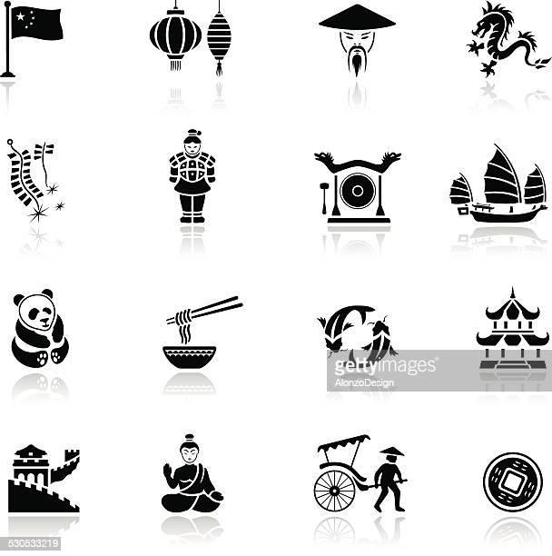 Ensemble d'icônes de la Chine